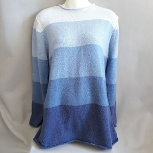 Classic Elements blue striped sweater
